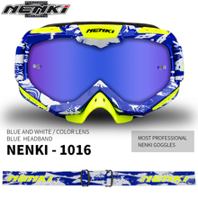 NENKI Motocross Glasses Off-Road Dirt Bike ATV DH MX Motorcycle Glasses Racing Eyewear Skiing Motocross Goggles Replaceable Lens(China)
