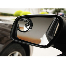 2pcs High Definition Adjustable Auto Car Rearview Mirror 360 degree Safety Wide Angle Blind Spot Mirror for all car freeshipping