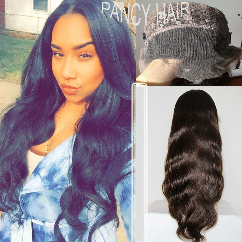 130% Density Full Lace Human Hair Wigs For Black Women Brazilian Human Hair Wigs Body Wave Lace Wig 7A Glueless Full Lace Wigs<br><br>Aliexpress