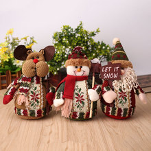 Lovely Christmas Santa Claus Reindeer Snowman Doll Xmas Figurine Decor - YOUR STYLE, LIFE store