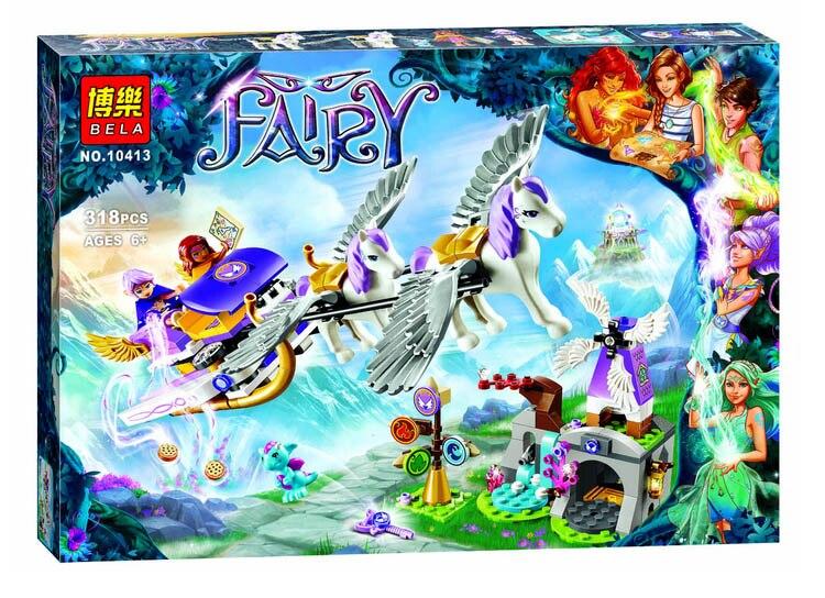 Nuevo 318 UNIDS BELA 10413 Elfos de Aira Pegasus Trineo Kit Set Compatible Bloques de Construccion Ladrillos  juguete<br><br>Aliexpress