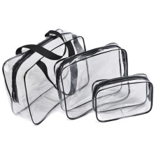 Environmental Protection PVC Transparent Cosmetic Bag Women Travel Make up Toiletry Bags Makeup Handbag Organizer Case
