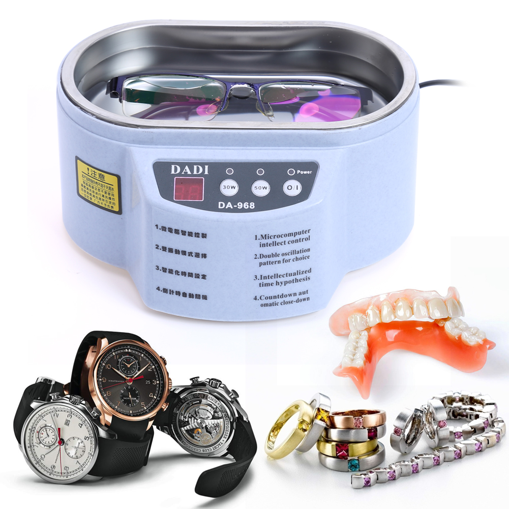 mart Ultrasonic Cleaner for Jewelry Glasses Circuit Board Cleaning Machine Intelligent Control Ultrasonic Cleaner Bath US Plug<br>