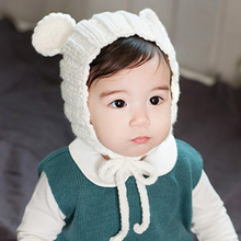 Baby Crochet Hat Character Bear Winter Hats for Baby Girls and Boys Handmade Knitted Beanie Photography Prop(China)