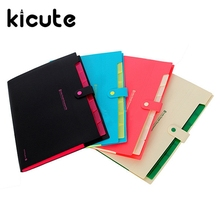 Kicute Waterproof Book A4 Paper File Folder Bag Accordion Style Design Document Rectangle Office Home School Color Random