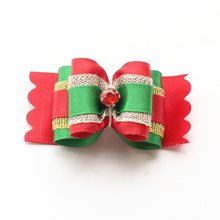 Armi store Handmade Christmas Grooming Dog Bow 6025001 Festival Pet Dogs Show Supplies Wholesale