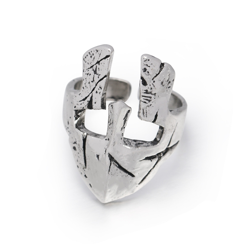 Spartan Hero Helmet Mask Ring