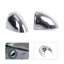 DWCX New Chrome windscreen washer cover spray nozzle decoration sticker protector for Chevrolet Holden Cruze 2009-2011 2012 2013(China)