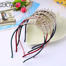 1 Pc Girl Princess Crown Diamond Headband Glitter Tiara Hairbands Birthday Gift Party Head Accessory Headwear(China)