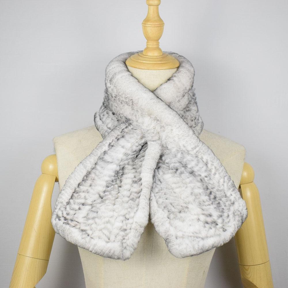 rex rabbit fur scarf short 1