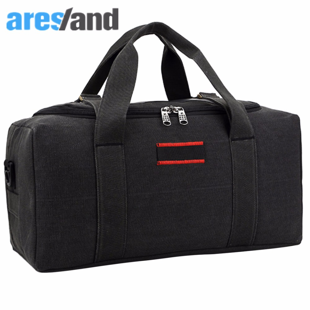 Aresland Large Capacity Canvas Mens womens Travel Bag Crossbody Bag Handbag Luggage Bag - Size S / L<br><br>Aliexpress