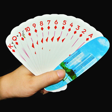 1 Set Paper Playing Cards Poker High Quality Oval Shaped Board Game Poker(China)