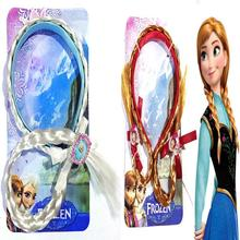 Frozen Elsa Anna Snow Princess Children's jewelry frozen wig braids hair bands Edsa new jewelry doll accessories(China)