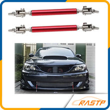 RASTP - Universal Adjustable 15cm Racing Front Bumper Lip Splitter Rod Strut Tie Bar Support Kit LS-BTD009