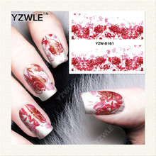 YZWLE 1 Sheet DIY Decals Nails Art Water Transfer Printing Stickers Accessories For Manicure Salon YZW-8161