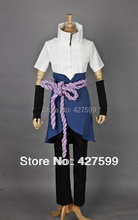 Naruto Shippuden Sasuke Uchiha Cosplay Costume Halloween Costumes With Free Shipping