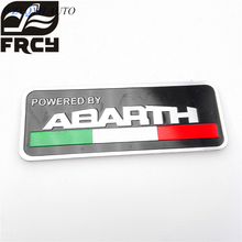 2017 80*30mm Abarth Labeling Car Aluminum Alloy Badge Sticker Emblem Decal Stickers For Fiat 500 Punto Stilo 124 125 695 Ot2000(China)