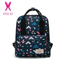 YANXI 2017 New Hot Sale School Bags For Teenagers Pop Quiz Backpack Male And Female Generic High Quality Canvas Leisure Backpack