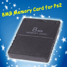 Compact Design Black 8MB Memory Card Memory Expansion Card Suitable for Playstation 2 PS2 Black 8MB Memory Card(China)