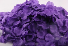 2000pcs/lot Dark Purple Artificial Silk Rose Petals for Wedding Birthday Event Party DIY Decorative Artificial Flowers(China)