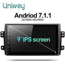 uniway ATY9071 2G+16G Android 7.1.1 car dvd for Suzuki SX4 2006 2007 2008 2009 2010 2011 2012 2013 car radio gps navigation(China)