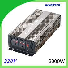 2000W pure sine wave solar power inverter DC 12V 24V to AC 110V 220V digital(China)