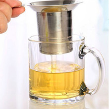 High Quality Tea Strainers Tea Leaves Separator Funnel Single-Wire Mesh Filter Stainless Steel(China)
