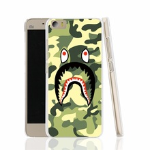 16572 Camouflage bape Military big mouth teeth cell phone Cover Case for Xiaomi Mi M 2 3 4 5 Mi4 Mi2 Mi3 Mi4 4S 4I Mi5 NOTE