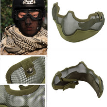 High Quality Army Green /BLACK Tactical TMC Metal Strike Steel Wire Half Face Mesh Airsoft Guardian Protective Mask