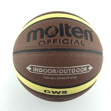 Molten Children Basketball Ball GW5  High Quality PU Leather Outdoor Indoor Size 5 Basketball Ball Training Equipment