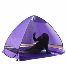 Balight Outdoor Anti-UV Camping Shade Dome Tents Beach Traveling Automatic Speed Open Half-Moon Style(China)