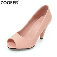 2017 Spring New Peep toe High Heels Women Shoes Fashion Women's Pumps Ladies Sexy Red white Wedding Shoes Woman(China)