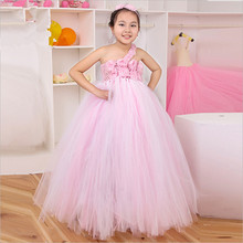 Handmade Flower Girl Dress Princess Tutu Dress Vestidos Infantis Girl Kids Pageant Birthday Prom Party Wedding Dresses 1-8 Years