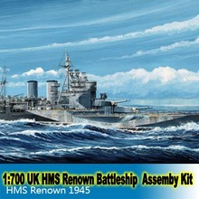 1:700 Scale Assembly Model UK HMS Renown 1945 BattleShip Boat Model Building Kit Free Shipping 05765