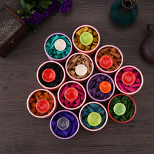 Lovely Hot Natural Fragrant Incense Sticks Pagoda Perfume Spices Sandalwood Incense Cone With Tray Help Sleep Sandalwood 5*7cm