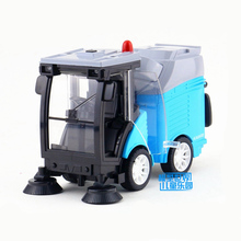 Kaiwei/Cleaning vehicle/Garbage truck/Engineering Pull Back/Sound & Light Car/Educational toy For Children/Collection/Gift(China)