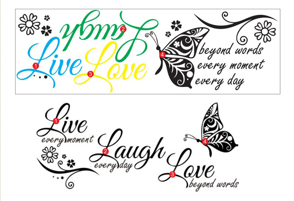 HTB1vbuChBjTBKNjSZFwq6AG4XXaW - Live Laugh Love Butterfly Flower Modern Wall Decals Quotes Vinyls Stickers