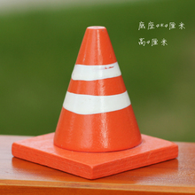 orange wooden modelChildren 's Sandbox DIY Road Barrier Triangle Conveyor Parking Traffic Sign Road Safetyscene 5pcs/set(China)