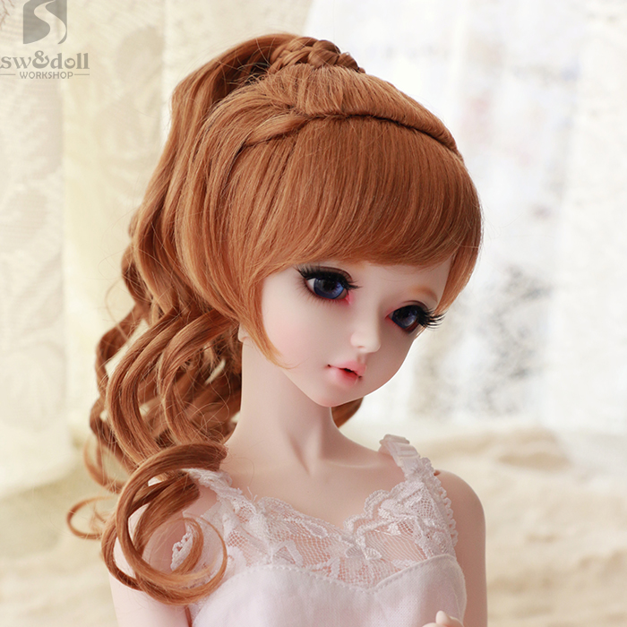 1/3 1/4 scale BJD wig curls hair for BJD/SD DIY doll accessories.Not included doll,clothes,shoes,and other 16C1010<br>