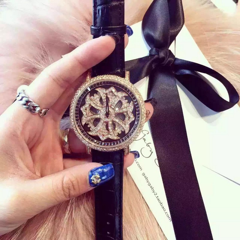 Luxury Fashion Wristwatches Quartz-Watches High-Grade Womens Watches Rotating Leather Bracelet Personalized Watch relojes<br>