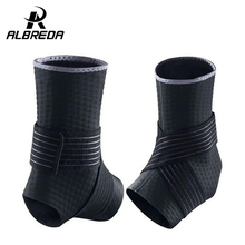 ALBRED Ankle Support Basketball Sport Professional Adjustable Neoprene Ankle Sleeve Thigh Skin Protector Ankle Brace Sport Safe