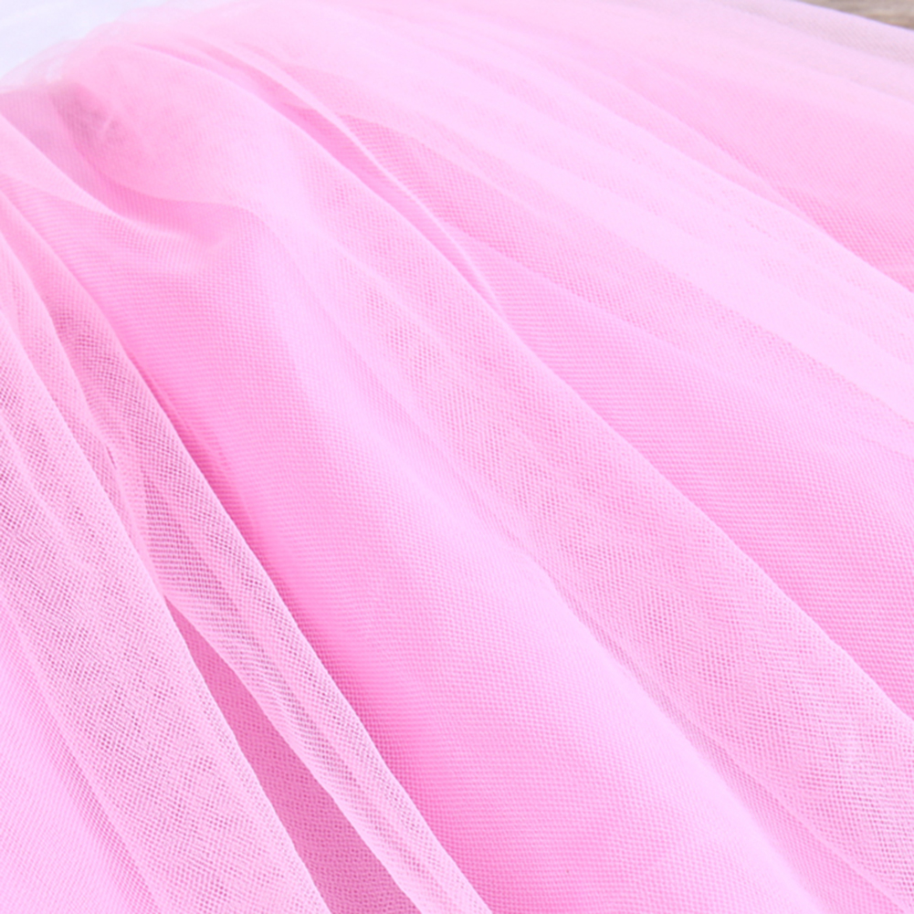 Fashion New Baby Girls Pink Summer Dress Kids Girls Princess Party Mesh Lace Tulle Halt Gown Formal Wedding Dresses 1Y-6Y Girls 11
