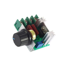 Buy 3pcs/lot 2000W 220V Dimming Thermostat SCR Speed Controller Voltage Regulator silicon controlled electronic voltage regulator for $7.71 in AliExpress store