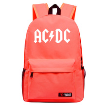 AC DC Multicolor backpack Sitcoms AC/DC Brian Johnson GUITAR Hall High Way To Hell Student couple leisure backpack(China)