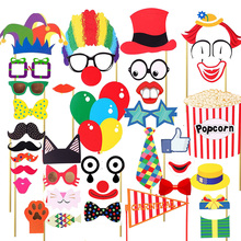 36PCS Photo Booth Prop Mask Wedding Decoration Glasses Mustache On Birthday Supplies Fun Favor Kids For Wedding Birthday