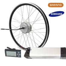 "250W Bafang Motor Kit Electric Bicycle Rear Front Motor for 26"" Bike Wheel LED LCD Ebike 36V 12ah 10ah SAMSUNG Kettle Battery"
