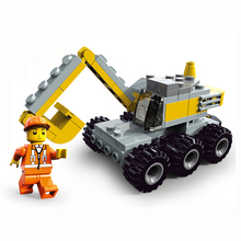 90pcs City Engineering Digging Locomotive Excavating Machinery Assembly Plastic Building Blocks Toys for Children K2661-21008(China)