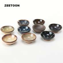 40ml Japanese Style Authentic Yixing Purple Clay Teacup Coarse Pottery Tea Cup Master Cup Kung Fu Tea Set Jian Zhan Flat Bowl(China)