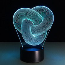 3D Table Lamp Abstract image Baby Night Light Novel Bedside Lampe Mini Nightlights Battery-powered Lamps Veilleuse Enfant Lampy