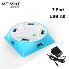 MT-VIKI 7 Port USB 3.0 HUB with Power Super Speed USB3.0 Distributor for PC SATA Windows XP Vista 7 MAC OS Android Phone Pad(China)